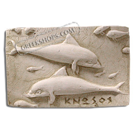 Ancient Greek Minoan Dolphins Magnet