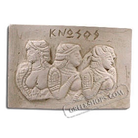 Ancient Greek Ladies in Blue Magnet