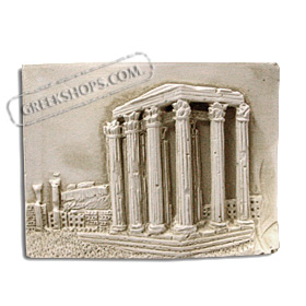 Ancient Greek Olympios Temple Magnet