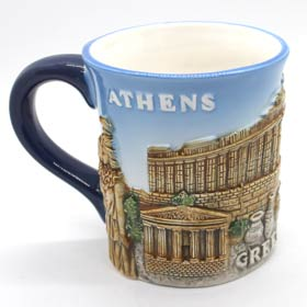 Athens Parthenon 3D Ceramic Mug, 14oz