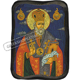 Orthodox Saint - Saint Nicholas the Russian - 8x11cm Handcarved