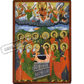 Biblical Composition - Dormition of the Theotokos - 14x20cm