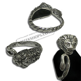 Sterling Silver Ring - Lion Head