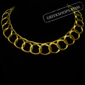 18k Gold Overlay Necklace - Hand Braided Wire