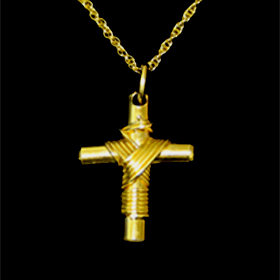 Large Gold Plated Greek Cross