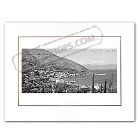 Vintage Greek City Photos Ionian Islands - Cephalonia, Agia Efimia, City view (1970)