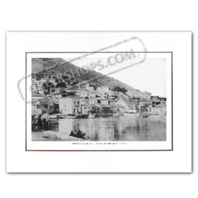 Vintage Greek City Photos Ionian Islands - Cephalonia, Agia Efimia, Port view (1910)