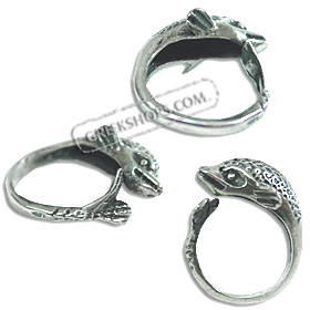 Sterling Silver Ring - Minoan Dolphin (Adjustable)