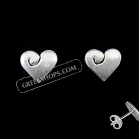 Sterling Silver Post Earrings Heart (7mm)