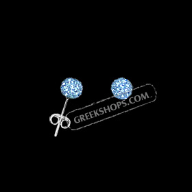 The Rio Collection - Swarovski Crystal Ball Post Earrings Blue (6mm)