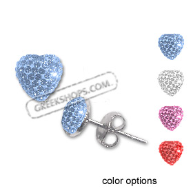 The Rio Collection - Swarovski Crystal Heart Post Earrings (4 color options)
