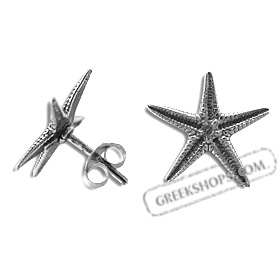 Sterling Silver Earrings - Starfish (14mm)