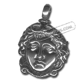 Sterling Silver Pendant - Medusa Large (30mm)