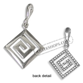 Sterling Silver Pendant - Greek Key Small (18mm)