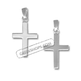 Sterling Silver Pendant - Sandblasted Cross (29mm)