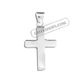 Sterling Silver Pendant - Cross (33mm)