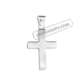 Sterling Silver Pendant - Cross (28mm)