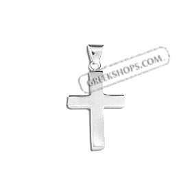 Sterling Silver Pendant - Cross (18mm)