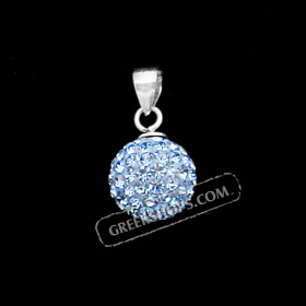 The Rio Collection - Swarovski Crystal Ball Pendant Blue (10mm)