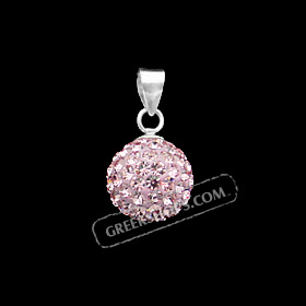 The Rio Collection - Swarovski Crystal Ball Pendant Pink (10mm)