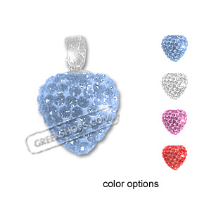 The Rio Collection - Swarovski Crystal Heart Pendant (4 color options)
