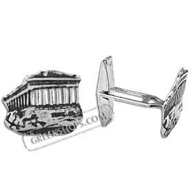 Sterling Silver Cufflinks - Parthenon (18mm)