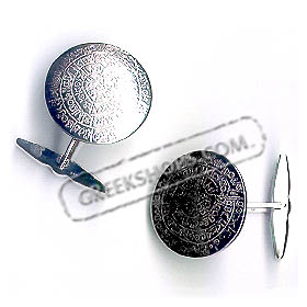 Sterling Silver Phaistos Disc Cufflinks (15mm)