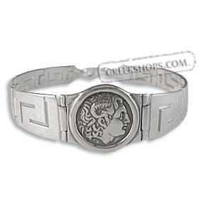 golden sterling silver,greek jewelry Alexander and Athena bracelet,symbols of Greece