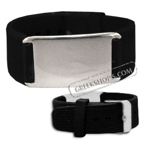 Rubber and Stainless Steel Bracelet with Buckle (20mm)