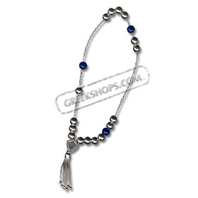 Sterling Silver Worrybeads - Sapphire
