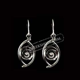 Sterling Silver Spiral Eye Shaped Earrings