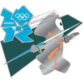 London 2012 Mascot Wenlock Javelin Sports Pin