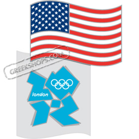 London 2012 US Flag Pin