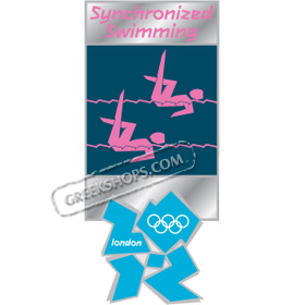 London 2012 Synchronized Swimming Pictogram Pin