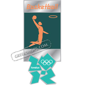 London 2012 Basketball Pictogram Pin