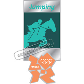 London 2012 Jumping Pictogram Pin