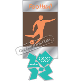 London 2012 Football Pictogram Pin