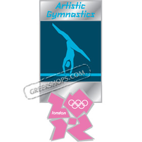 London 2012 Artistic Gymnastics Pictogram Pin