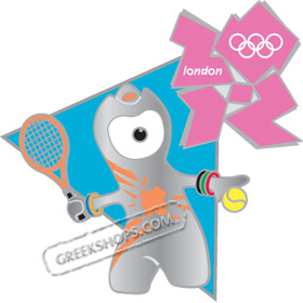 London 2012 Mascot Wenlock Tennis Sports Pin