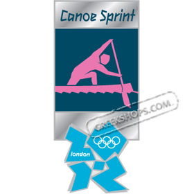 London 2012 Canoe Sprint Pictogram Pin