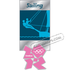London 2012 Sailing Pictogram Pin