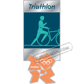 London 2012 Triathlon Pictogram Pin