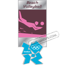 London 2012 Beach Volleyball Pictogram Pin