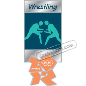 London 2012 Wrestling Pictogram Pin