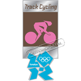 London 2012 Track Cycling Pictogram Pin