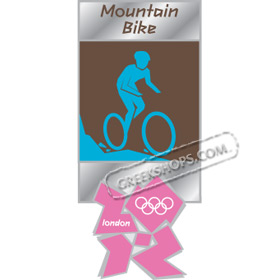 London 2012 Mountain Bike Pictogram Pin