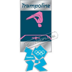 London 2012 Trampoline Pictogram Pin