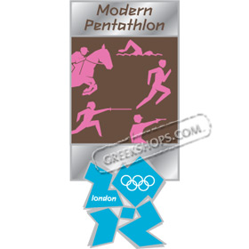 London 2012 Modern Pentathlon Pictogram Pin