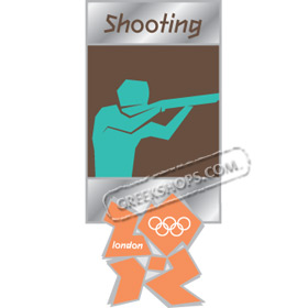 London 2012 Shooting Pictogram Pin