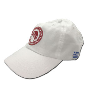 Olympiakos Adjustable Baseball Cap. In White